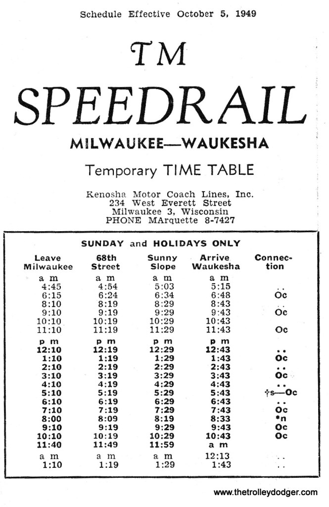TM SR Timetable 10-16-49