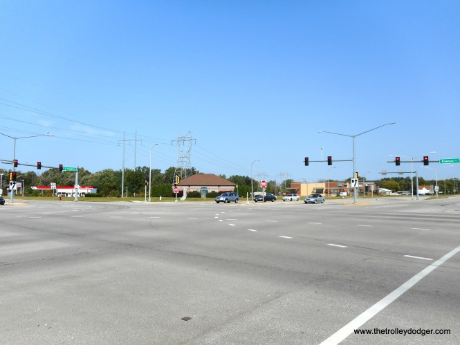 11B In 2017 there is virtually no trace of the North Shore at the intersection of Howell & Rawson Avenues as seen in this view also looking northwest. The bridges were removed in 1967 and the streets were rebuilt. C.N.Barney