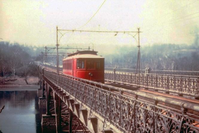 The Strawberry Mansion Bridge circa 1945. (Bill Volkmer Collection)