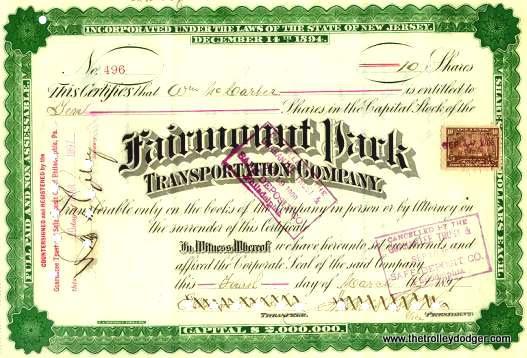 A stock certificate.