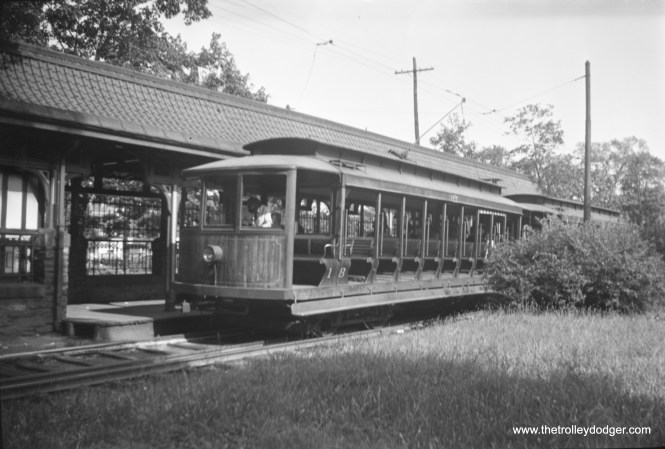 Car 18 at the station in June 1945. (Walter Hulseweder Photo)