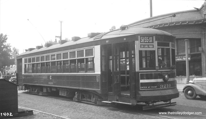 CSL 3210 on the 51st-55th route, probably in the late 1930s.