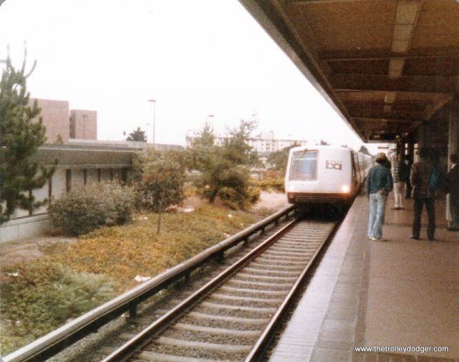 The BART Concord station, on the former Sacramento Northern right-of-way.