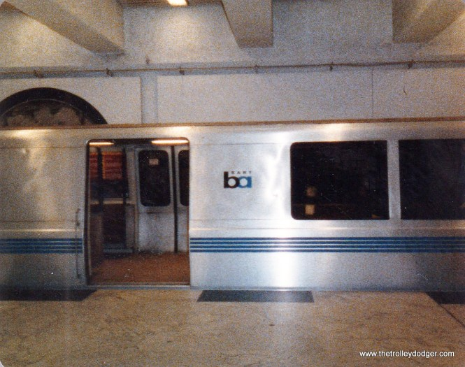 A BART C train at Civic Center station.