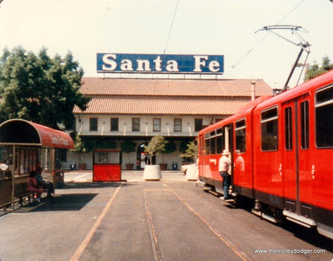 Originally, the San Diego Trolley line to the Mexican border started here.