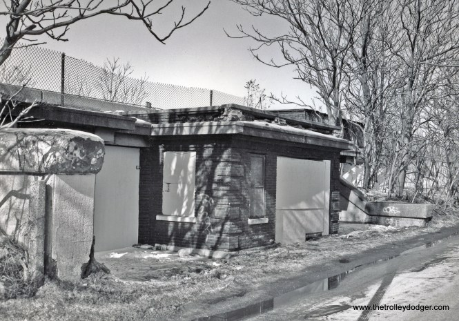Bruce Moffat took this picture on February 15, 1994 just before the station entrance was demolished.
