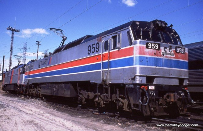 Photo 2. Still in her Amtrak paint, NJ Transit E-60 #959 waits at South Amboy for her next North Jersey Coastline train assignment.