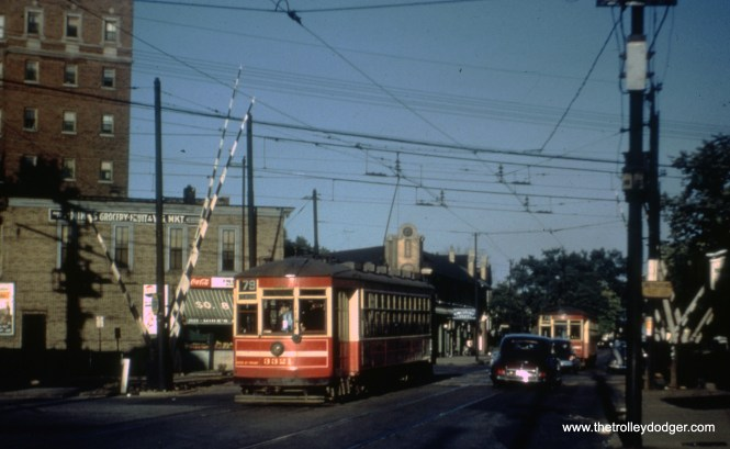 CTA 3321 on 79th at Exchange Avenue on Route 79, June 10, 1951.