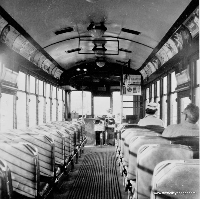 Interior view of a 900-series car with leather seats. (Herb Danneman photo)