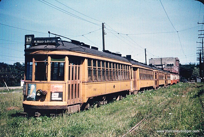 TM 600s and 500s awaiting scrapping at Oakland Station in 1949.