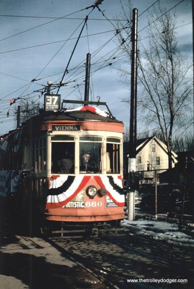 TM 660 at Fiebrantz Station, 3-31-48.