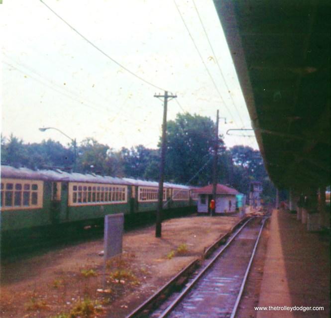 CTA 4000s in Linden Avenue yard ca. 1972.