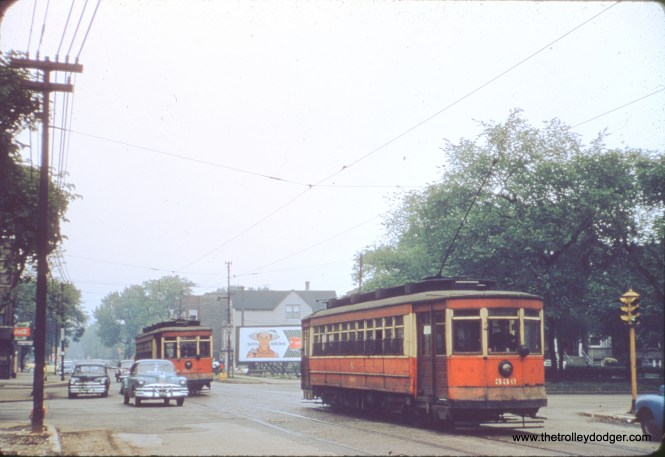 CTA 336, in June 1952, is on California Avenue at Augusta Boulevard.