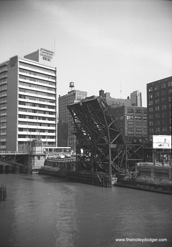 """Another view of the same two Met """"L"""" bridges in 1959."""