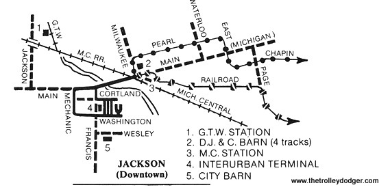 Jackson, Michigan Traction Map.