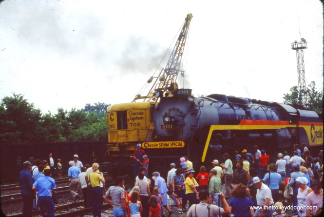 The Chessie Steam Special in Peru, IN on June 17, 1978.