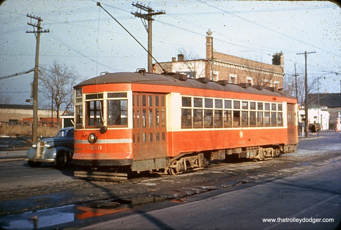 CTA 6213 at 95th and State in 1949.