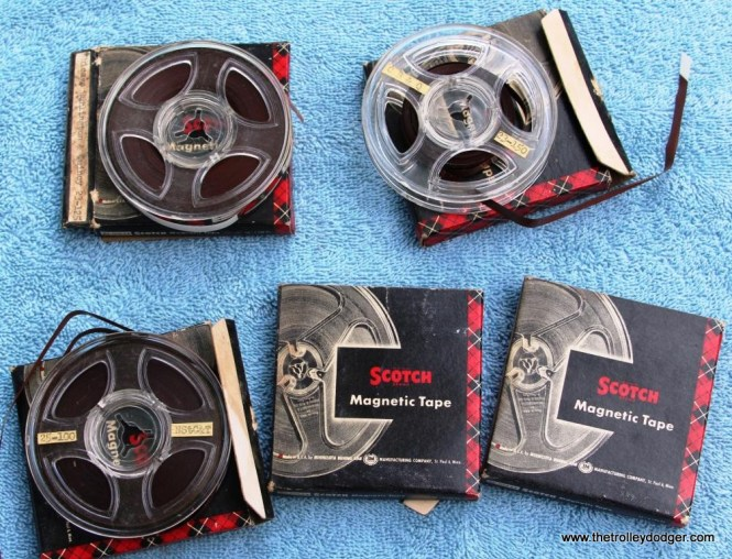 16 78rpm master tapes showing condition of tapes-not too bad