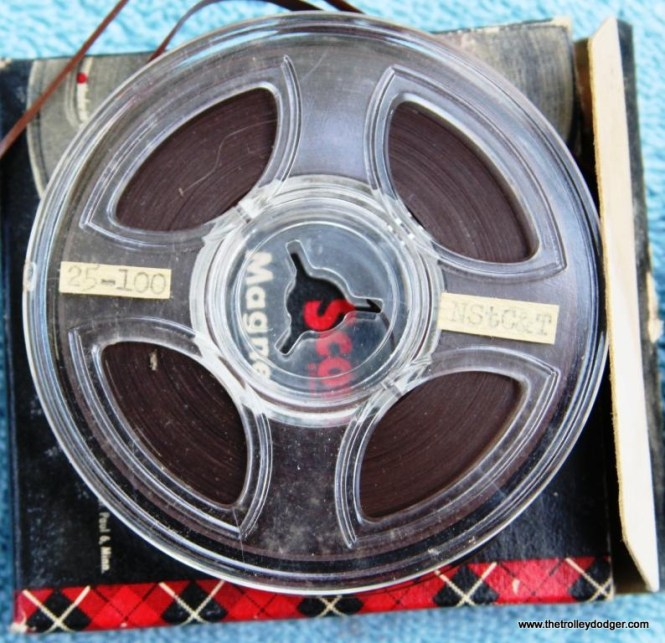 17 close up of 78rpm master tape showing condition