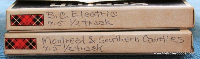 21 Close up of the BC Electric and Montreal & South Counties tapes