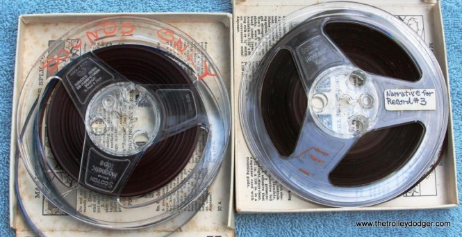 32 Two master tapes for record number 3 showing condition