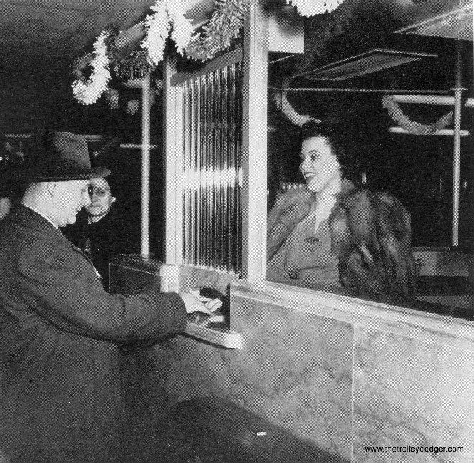 A ticket taker at the April 1943 event.