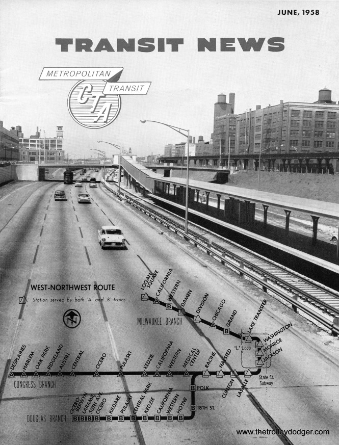 The Congress line opens in June 1958 with three branches (Congress, Douglas, and Milwaukee).