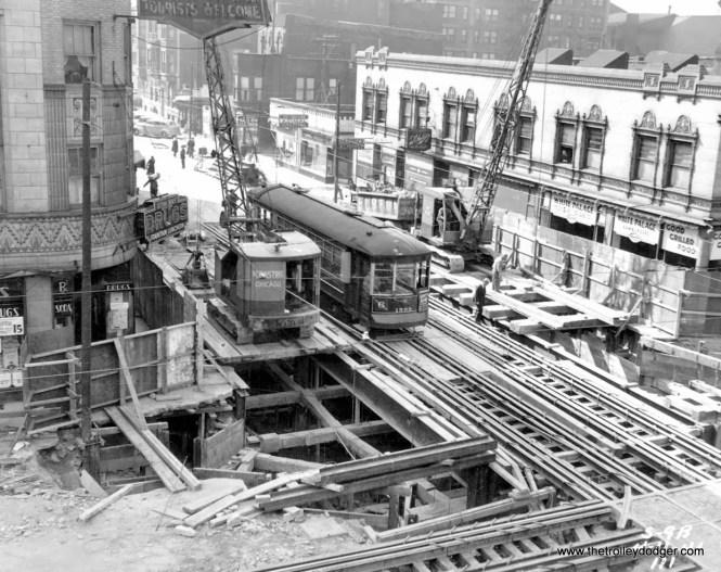 Subway construction, circa 1939-40.