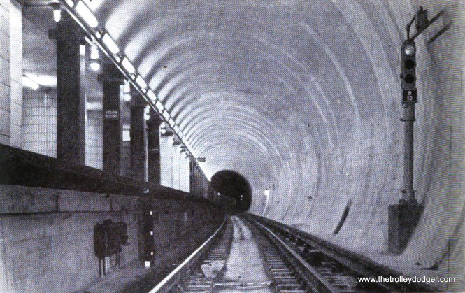 """The new subway featured automatic block signals. If a train went past a red signal, brakes were automatically applied. There were also timed signals on curves. Previously, most of the """"L"""" used """"on-sight"""" operation."""