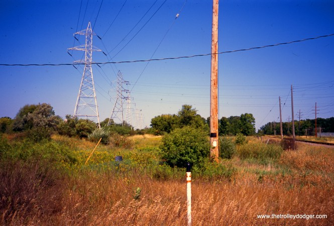 Milwaukee County, WI - Looking N/NW (timetable NB) on long-abandoned right-of-way of CNS&M from
