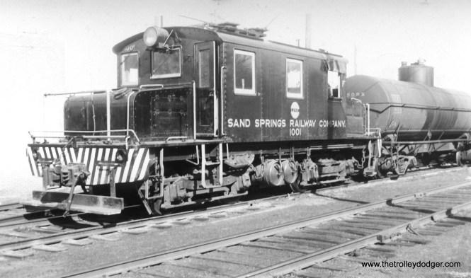 Sand Springs Railway (Oklahoma) loco #1001.