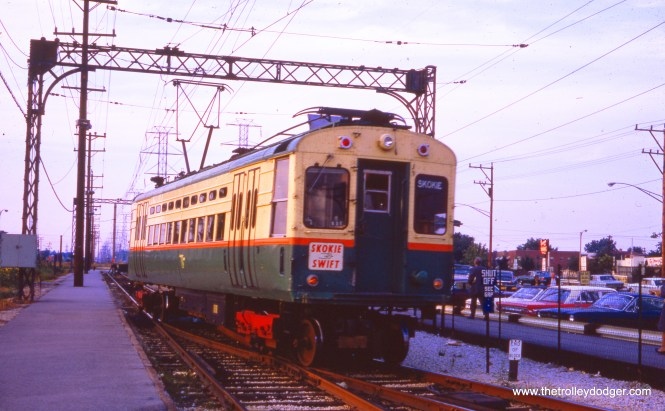 This car sports an experimental pantograph in October 1966.
