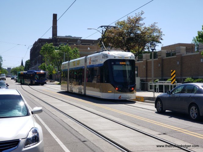 I believe this is the Ogden and Jackson stop. This car is heading east.