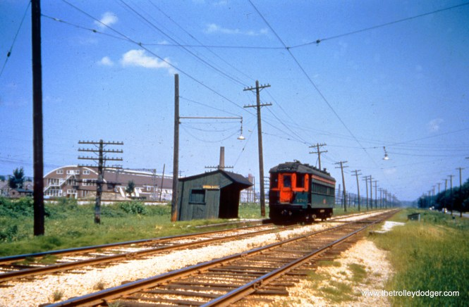 The Shore Line in June 1955, the month before abandonment.  (Joseph Canfield Photo, Dave Stanley Collection)
