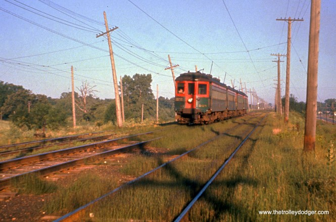 NSL 168 is eastbound on the Mundelein branch on July 21, 1960. (Joseph Canfield Photo)