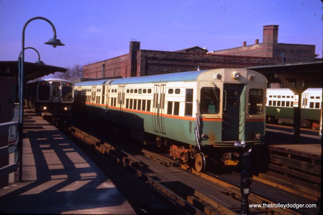 CTA 2000s and 6000s at the old Logan Square terminal on November 13, 1966.