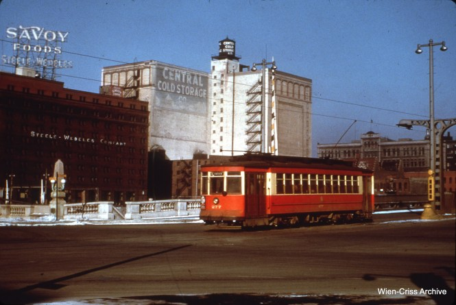 CTA 277 at State and Wacker in March 1951.