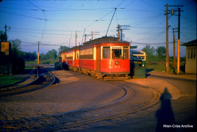 CTA 452 at 63rd Place and Narragansett on May 19, 1953.