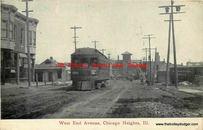 What streetcar or interurban ran to Chicago Heights?