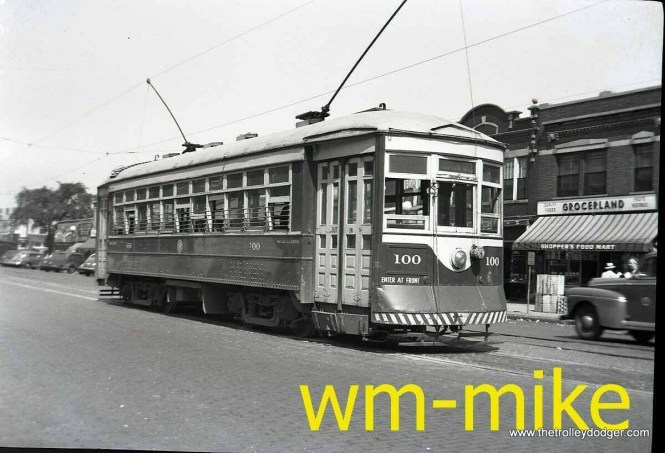 By comparing this picture of C&WT 100 with a different one, I have determined this was taken at Madison and Austin in Oak Park.