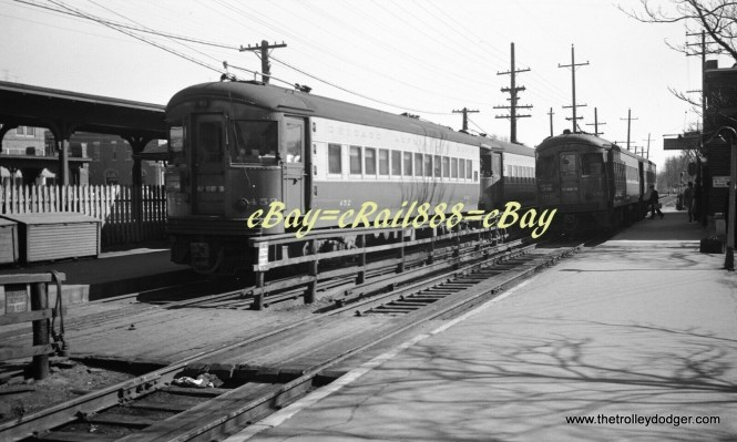 If I had to guess, I would say this Chicago, Aurora & Elgin photo was taken at Wheaton. But so were a lot of such pictures, and the light was not shining the right way to illuminate the ends of the cars on this one.