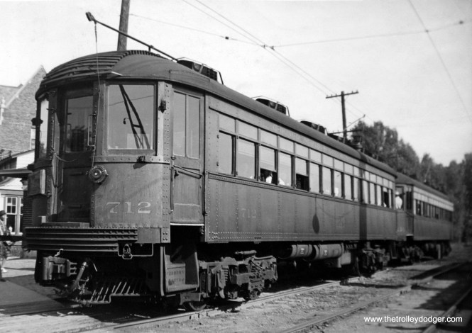 North Shore Line car 712.