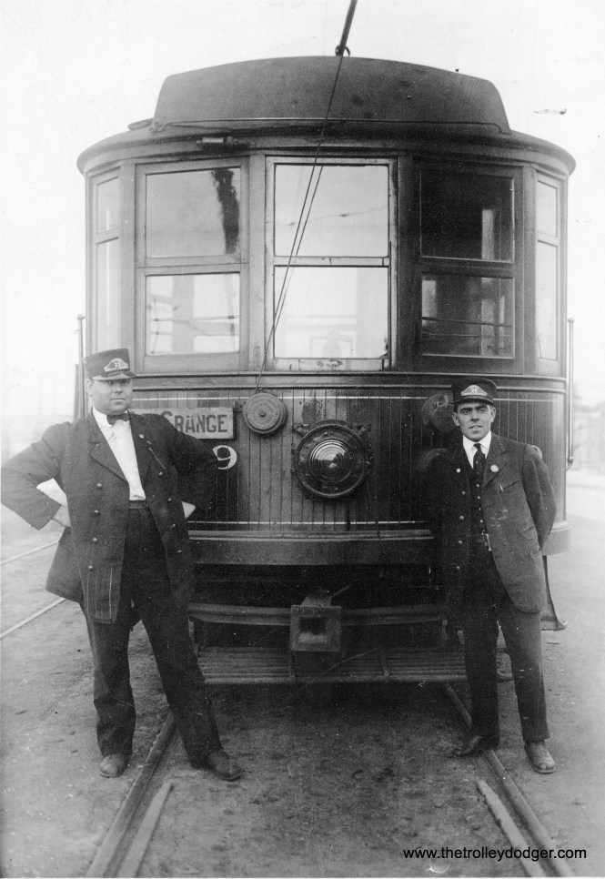 This is a Chicago & West Towns Railway streetcar, signed for the La Grange line, circa 1915.