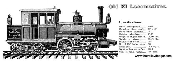 "I spent a lot of time cleaning up this image, but decided not to use it. The steam engines Chicago used on the ""L"" were similar to those in New York, but they weren't identical-- they were more robust. They didn't have the same specs."