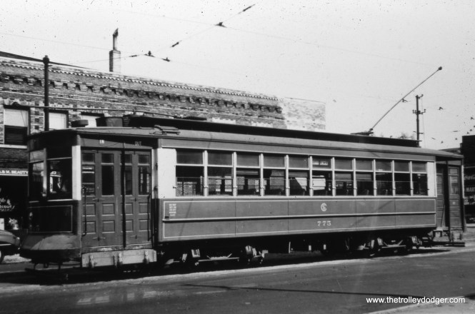 CSL 775 at 47th and Indiana in May 1945.