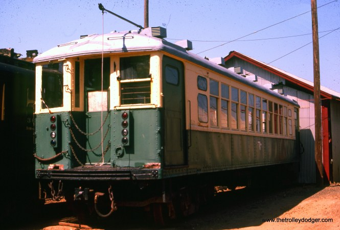 A CTA 4000, most likely at a railway museum.