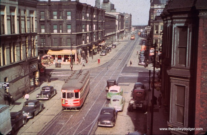 CTA Peter Witt 3375 at Wabash and 18th, running on Route 4 in 1948.