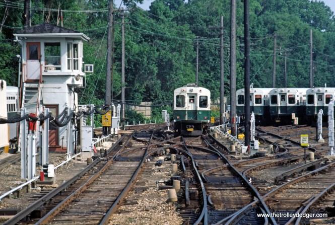 CTA 1-50 series Evanston Linden Yard 7-1981