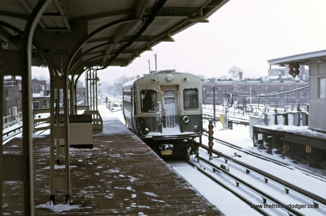 CTA 1-50 series Evanston Howard Terminal 3-1974