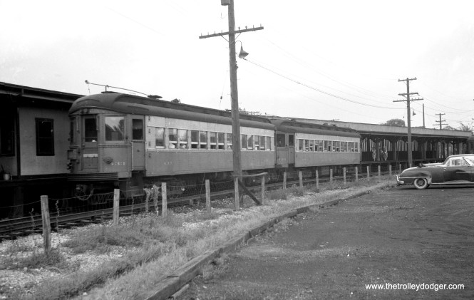 CA&E 433 and 426 at DesPlaines Avenue in Forest Park, sometime between 1953 and 1957.